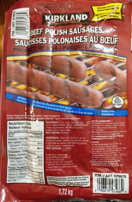 Beef Polish Sausages - Product - en
