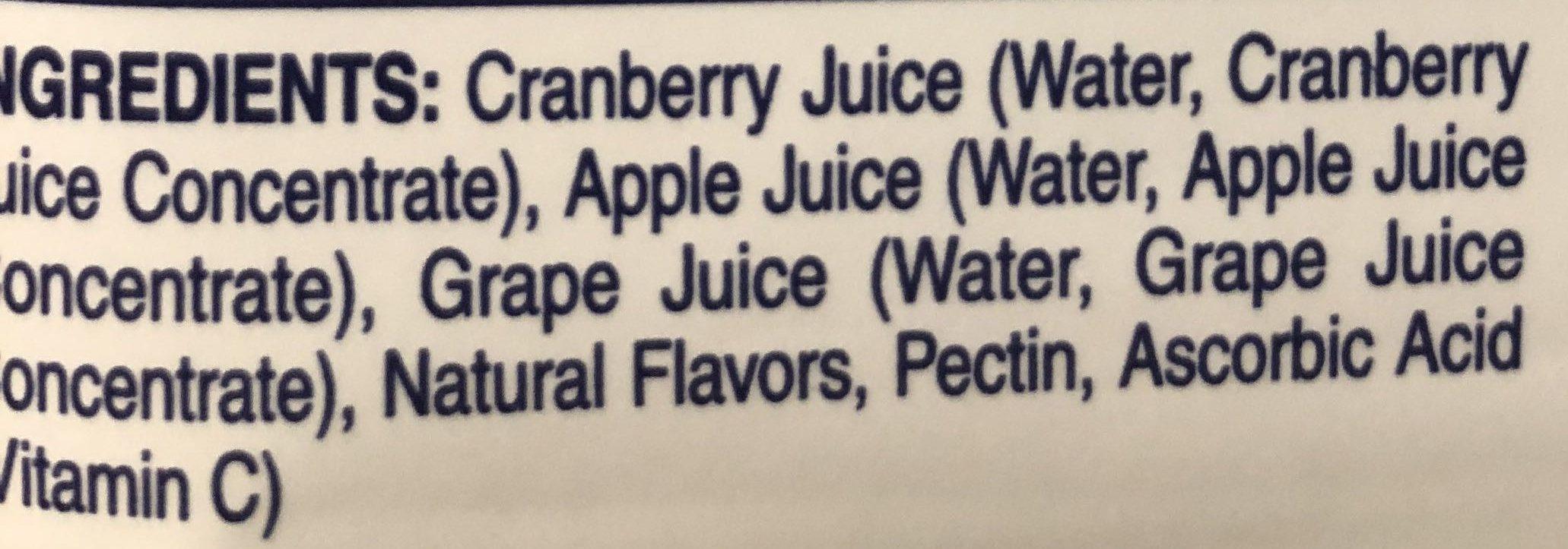 Kirkland 100% Juice Cranberry Premium - Ingredients - en
