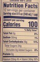 Kirkland 100% Juice Cranberry Premium - Nutrition facts - en