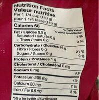 Mélange de trois baies - Nutrition facts - fr