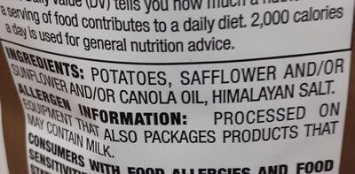 Himalayan salt chips - Ingredients
