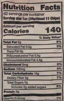 Organic Tortilla Chips - Nutrition facts - en