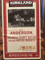 HK Anderson Valencia peanut butter filled pretzel nuggets - Product - en