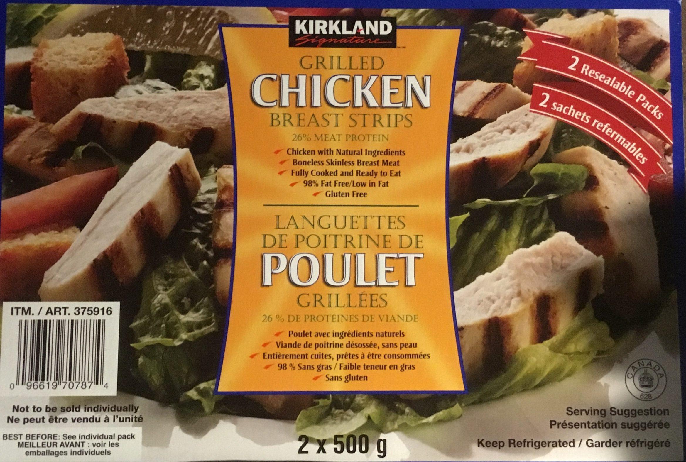 Languettes de poitrine de Poulet grillées - Product - fr