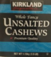 Unsalted cashews - Product