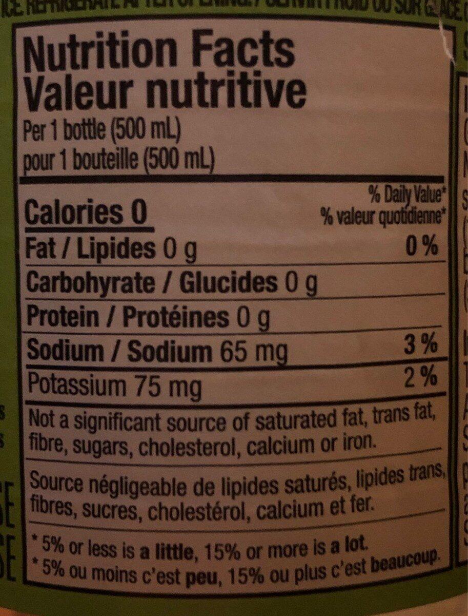 kirkland green tea - Nutrition facts - en