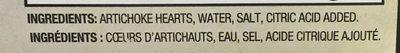 Cœurs d'artichauts - Ingredients