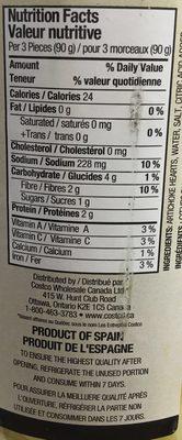 Cœurs d'artichauts - Nutrition facts