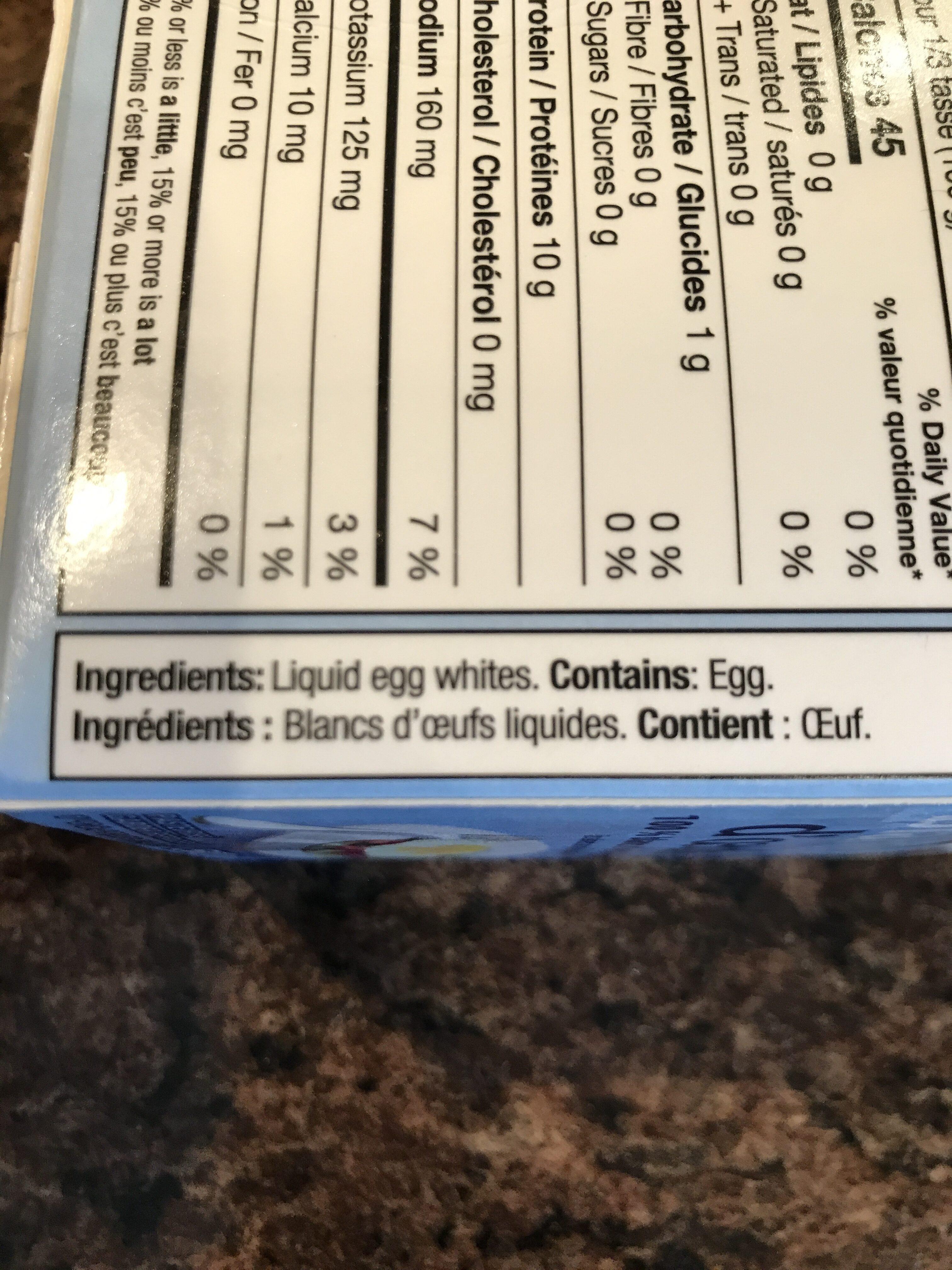 Blanc d'oeuf - Ingrédients - fr