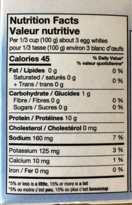 Blanc d'oeuf - Informations nutritionnelles - fr