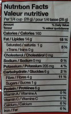 Almendras - Informations nutritionnelles - en