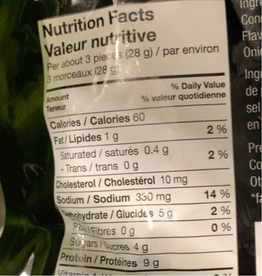 Lanières de bifteck - Informations nutritionnelles