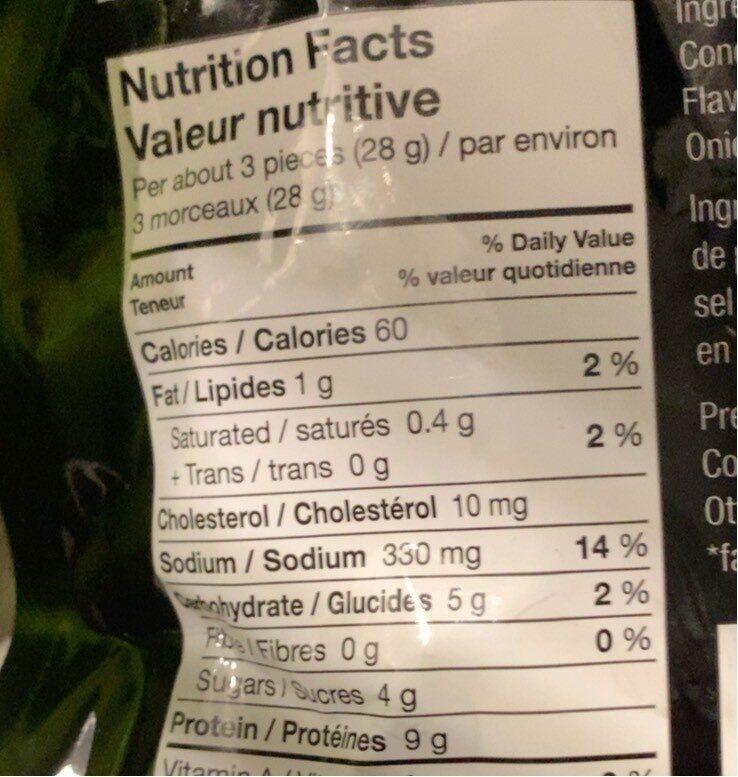 Lanières de bifteck - Informations nutritionnelles - fr