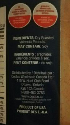 Beurre d'arachide - Ingrédients