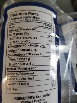 Beurre d'arachide naturel - Voedingswaarden