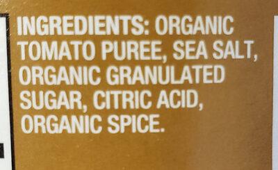 Organic Tomato Sauce - Ingredients