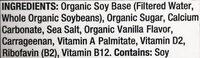 Organic Soy Non-Dairy Beverage Vanilla - Ingredients - en