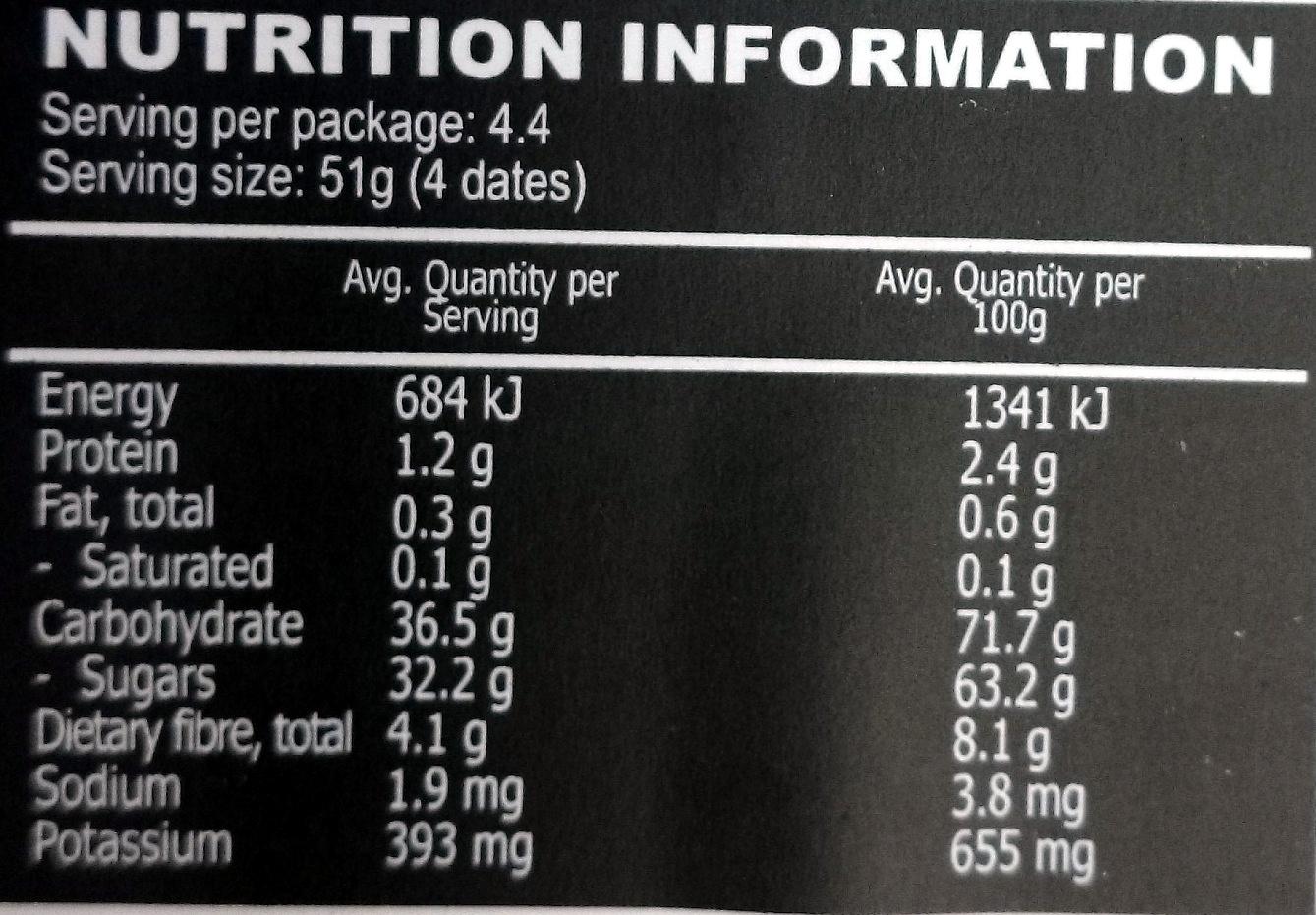 Medjool dates nutrition in Sydney