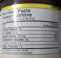 Bouillon a base de boeuf - Informação nutricional - fr