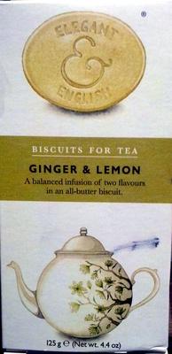 Biscuits For Tea - Ginger & Lemon - Produit - en