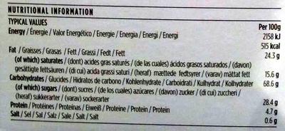 Biscuits For Tea - Ginger & Lemon - Informations nutritionnelles