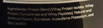Prostar 100% Whey - Ingredients