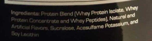 Prostar 100% Whey - Ingredients - en