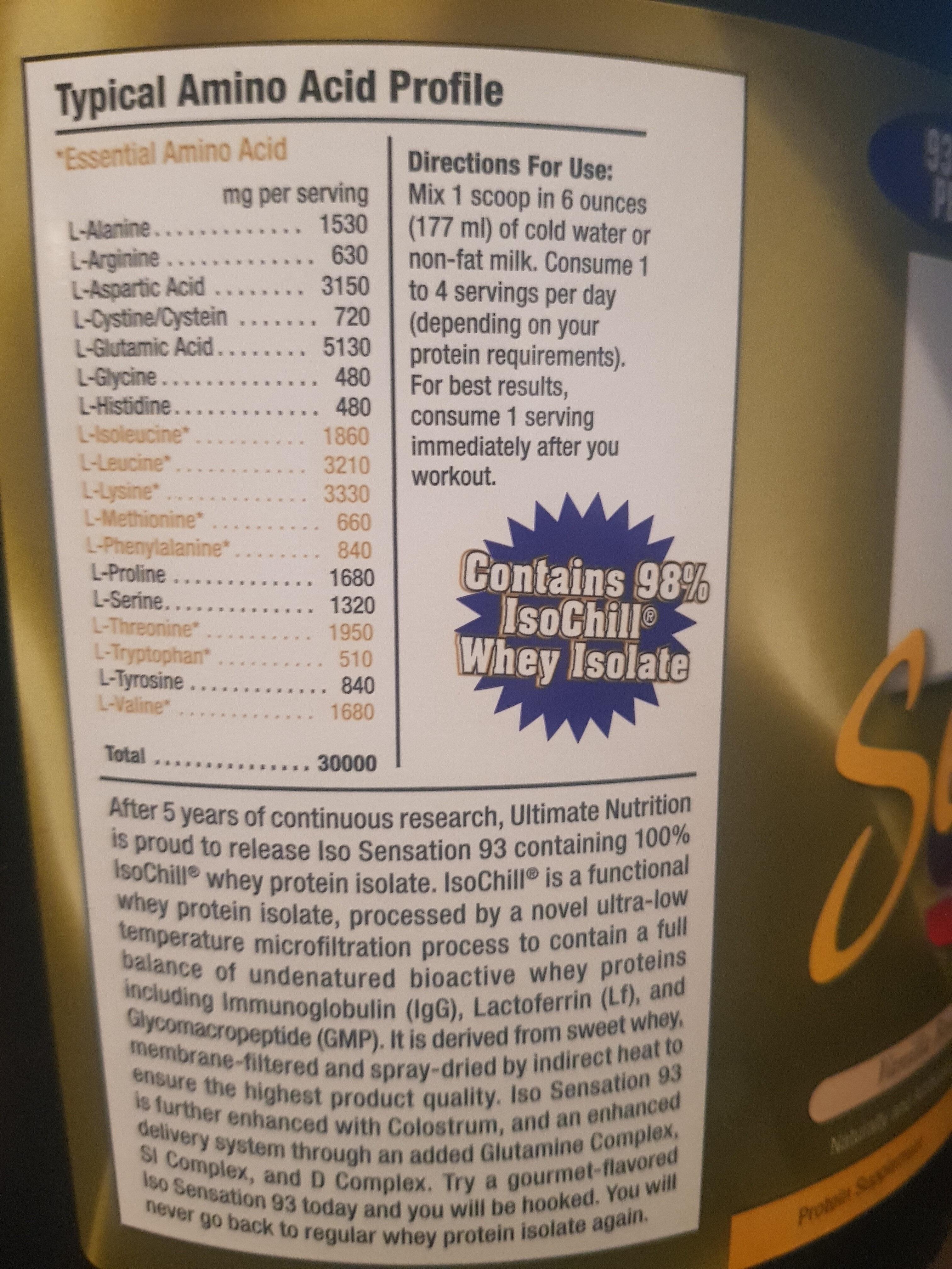 ISO Sensation 93 - Vanilla Bean - Product