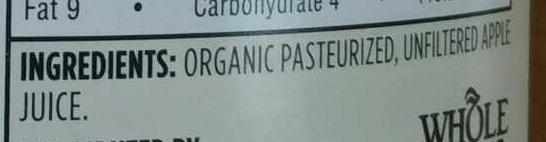 Organic juice - Ingredients - en