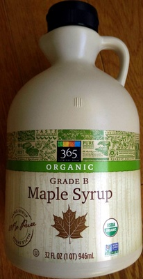 Organic Grade B Maple Syrup - 365 - 34 FL Oz (1 QT) 946ML - Product