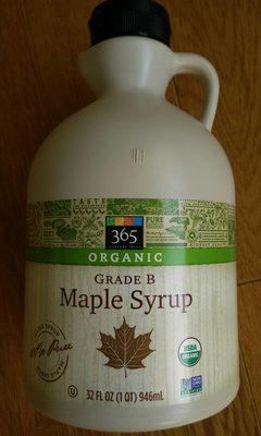Organic Grade B Maple Syrup - 365 - 34 FL Oz (1 QT) 946ML - Produit