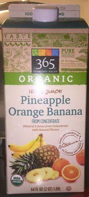 Organic 100% Juice, Pineapple Orange Banana - Produit