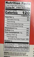 Organic taco shells - Nutrition facts - en