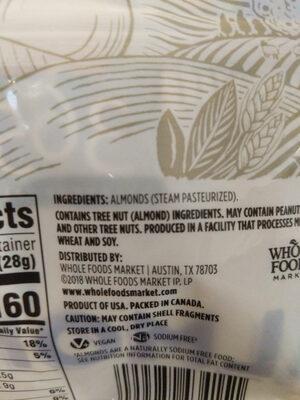 Whole almonds - Ingredients - en