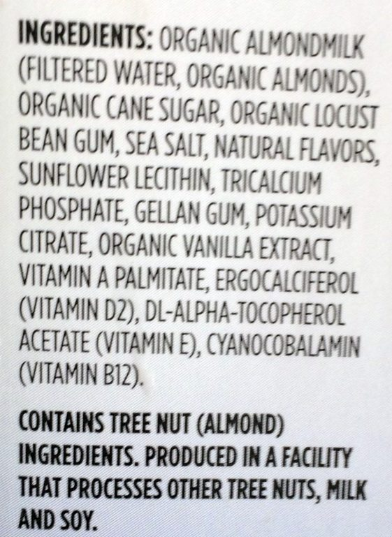 Organic almondmilk - Ingredients - en