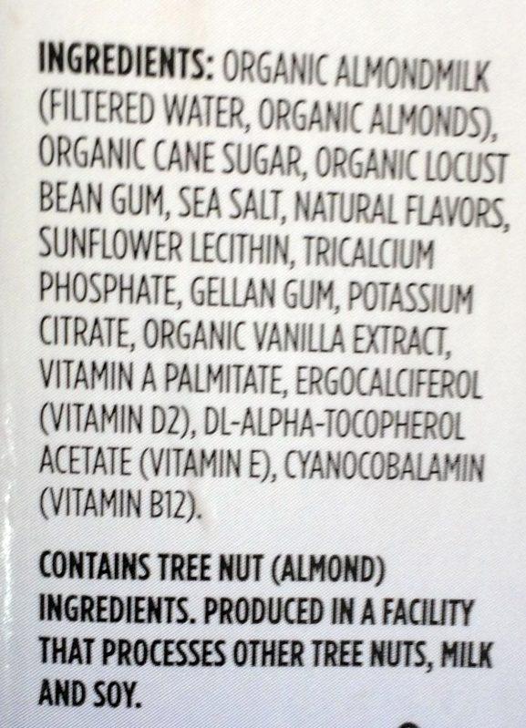 Organic almondmilk - Ingrédients - fr