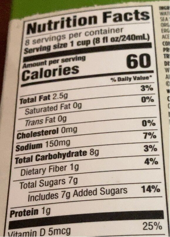 Almond original - Nutrition facts - en