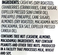 Kahuna Crunch Trail Mix - Ingredients