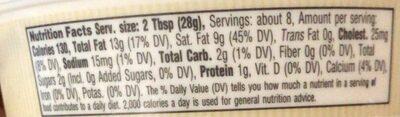 Mascarpone farmstead cheese - Informations nutritionnelles - en
