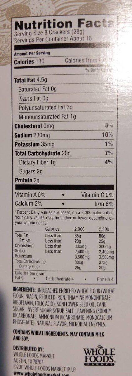 Snack Crackers - Nutrition facts - en