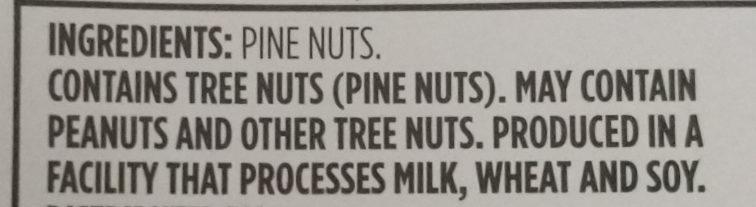 Unsalted Pine Nuts - Ingredients