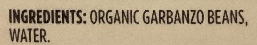 365 everyday value, organic garbanzo beans - Ingredients - en
