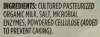 Organic Sharp Cheddar Cheese - Ingredients