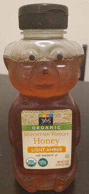 Organic Mountain Forest Honey, Light Amber - Product