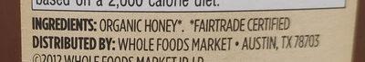 Organic Mountain Forest Honey, Light Amber - Ingredients
