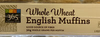365 everyday value, whole wheat english muffins - Product - en