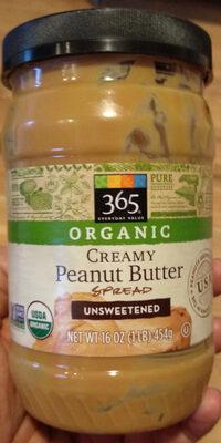 365 everyday value, peanut butter, creamy unsweetend - Produit - en