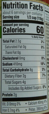 Marinara pasta sauce - Nutrition facts