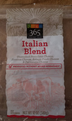 Unsmoked provolone cheese, parmesan cheese & asiago fresh cheese italian blend, unsmoked provolone cheese, parmesan cheese & asiago - Product - en