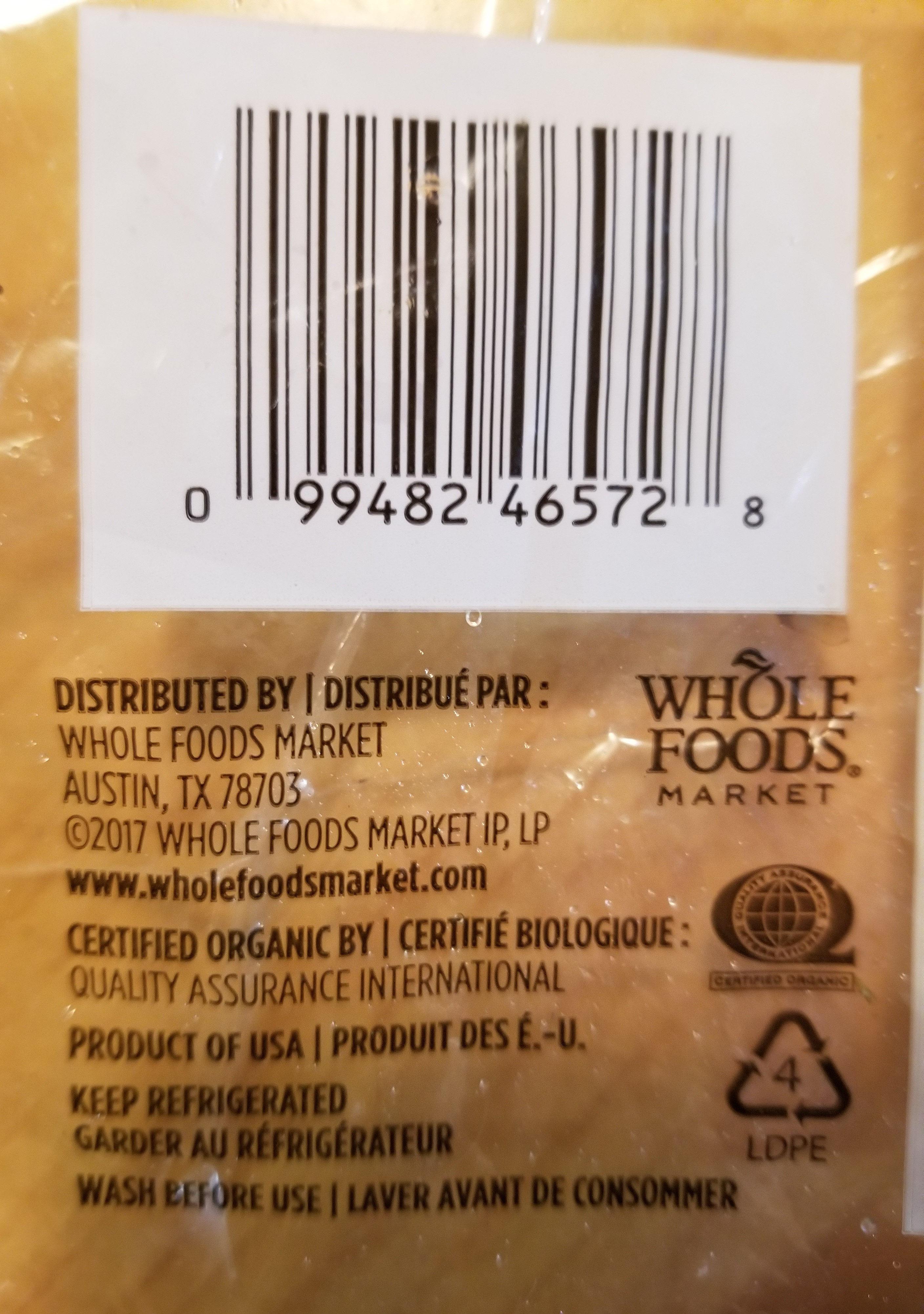 carrots organic - Ingredients - en